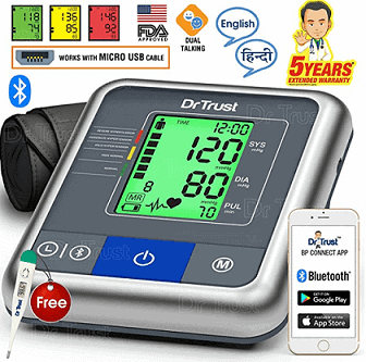 Dr Trust A-One Max Connect Automatic Talking Blood Pressure