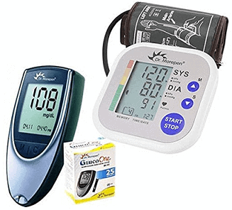 Dr. Morepen BP02 Blood Pressure Monitor and BG03 Glucose Check Monitor