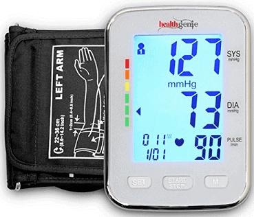Healthgenie BPM04KBL Digital Upper Arm Blood Pressure Monitor