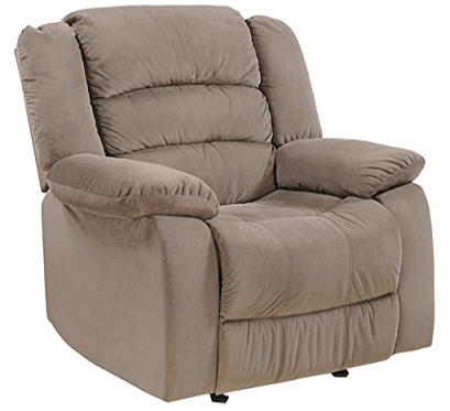 25ef43b03 AE Designs Rocking Recliner in Olive Brown Fabric