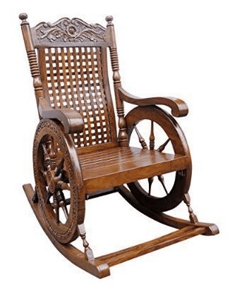 Tayyaba Enterprises Pure Sheesham Wooden Rocking Chair