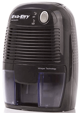 Eva-dry Electric Petite Portable Dehumidifier EDV 1100 Black