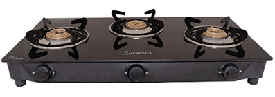 Gesto 3 Burner Vista Gas Stove