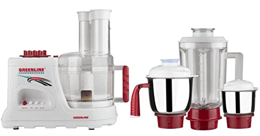 Greenline 13 in 1 Food Processor with 3 Jars