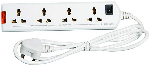 Havells 6A Four-Way Extension Board