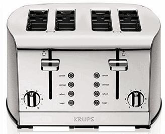 Krups KH734D50 Breakfast Set 4-Slice Toaster