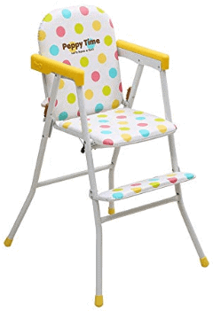 Kurtzy Kids Foldable High chair with Cushion