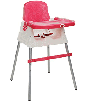 LuvLap 4 in 1 Booster High Chair - Pink