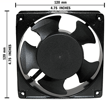 Maa Ku AC Axial Cooling Blower Exhaust Rotary Fan