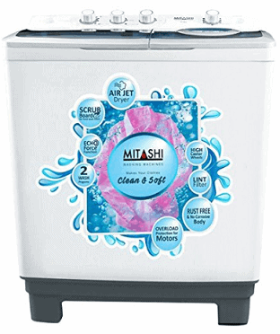 Mitashi 8.5 Kg Semi-automatic Top-loading Washing Machine