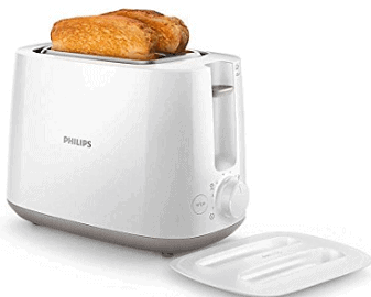 Philips Daily Collection HD2582-00 830-Watt 2-Slice Pop-up Toaster