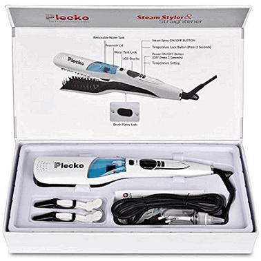 Plecko Steam Hair Straightener Comb Brush