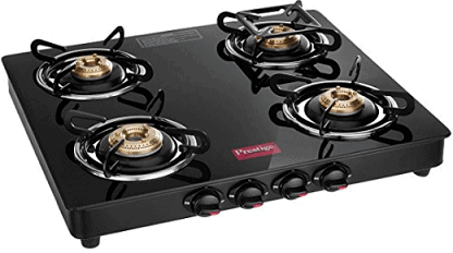 Prestige Marvel 4 Burner Glass Gas Stove