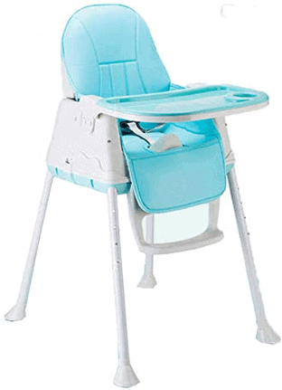 SYGA High Chair for Baby Kids,Safety Toddler Feeding Booster Seat Dining Table Chair with Cushion(Blue)