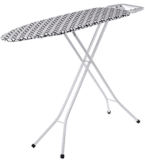 Solimo Chevron Folding Ironing Board with Iron Stand