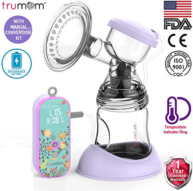 Trumom Lavender Rechargeable Electric Breast Milk Feeding Pump