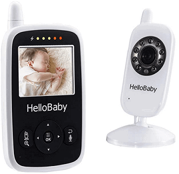 Hello Baby - Best Video Baby Monitor Wireless with Night Vision 2.4 inch Digital Screen