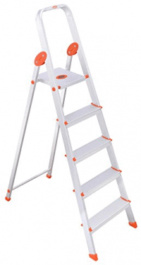 Bathla Ultra-Stable 4-Step Foldable Aluminium Ladder