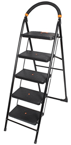 Cipla Plast Heavy Duty Folding Ladder with Wide Steps
