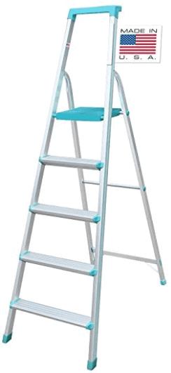 Euro Pro Household Aluminium Step Ladder 5 Steps