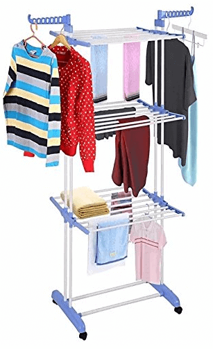 Kumaka Full Size, Heavy Duty Double Pole Cloth Drying Stand