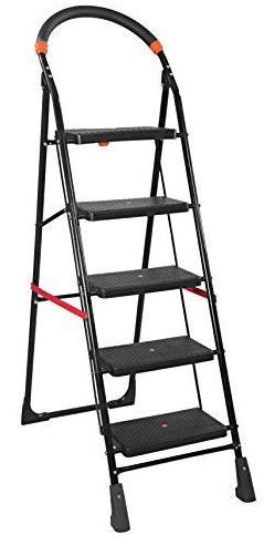 PAffy Premium Heavy Folding Ladder with Wide Steps - Milano 5 Steps