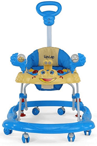 LuvLap Sunshine Baby Walker with Adjustable Height & Stopper