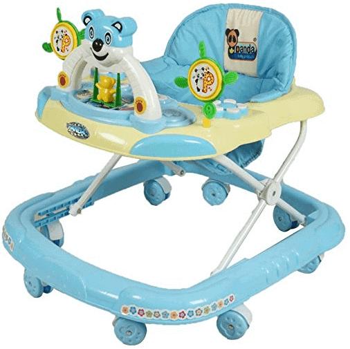 Panda Goyal Baby Musical Walker- Blue