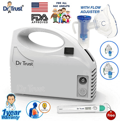 Dr Trust Piston Compressor Handy Nebulizer with Flow Adjuster