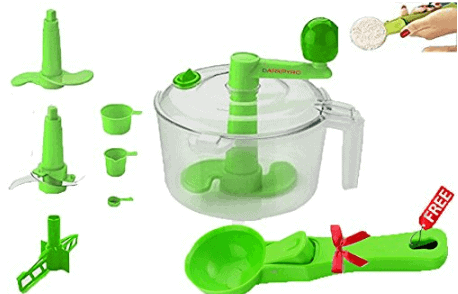Darkpyro Plastic Dough Maker Set, 8-Pieces, Green