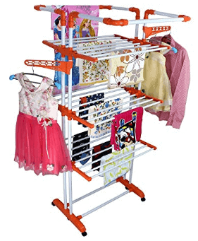 PAffy Cloth Drying Stand, 3 Pole 3 Layer