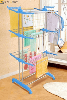 SYNERGY - Heavy Duty Stainless Steel Double Pole Foldable Cloth Dryer