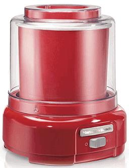 Hamilton Beach Ice Cream Maker, 1.5-Quart, Red