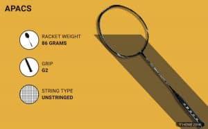 Apacs FINAPI 232 Graphite badminton racket