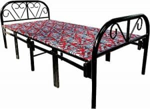 SAHNI Portable furniture Single Folding Steel Bed