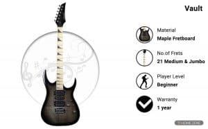 Vault RG1RW Soloist Electric Guitar