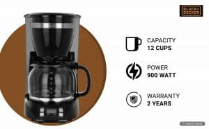 Black + Decker BXCM1201IN Drip Coffee Maker