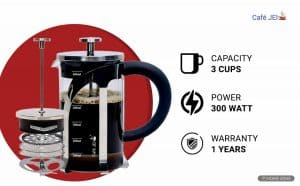 Cafe JEI French Press Coffee Maker and Tea Maker