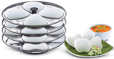 Prestige Heart Shaped 4 Plates Idli Set