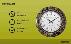 RoyalsCart Floral Design Painting Analog Wall Clock