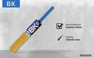 BK Xtreme Kashmir Willow Cricket Bat with Cover