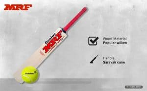 MRF Cricket Bat with Ball