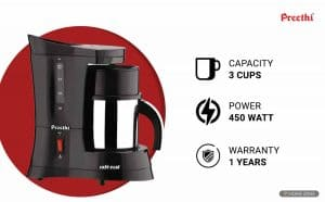 Preethi Cafe Zest CM210 Coffee Maker