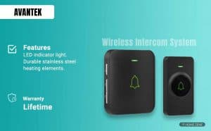 Avantek Mini Wireless Waterproof Doorbell Chime