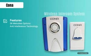 Cona Plastic High Range Cordless Wireless Door Bell