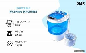 DMR 3 kg Portable Mini Washing Machine