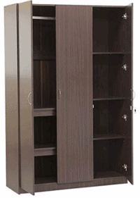 HomeTown Willy Engineered Wood Three Door Wardrobe