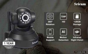 Sricam SP Series SP005 Wireless HD WiFi CCTV Indoor Security Camera