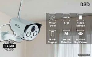 D3D D8862 HD Outdoor WiFi Security Camera