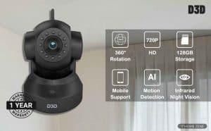 D3D DD821 HD WiFi CCTV Indoor Security Camera